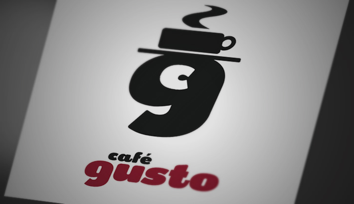 Logo design. Identity for Cafe Gusto